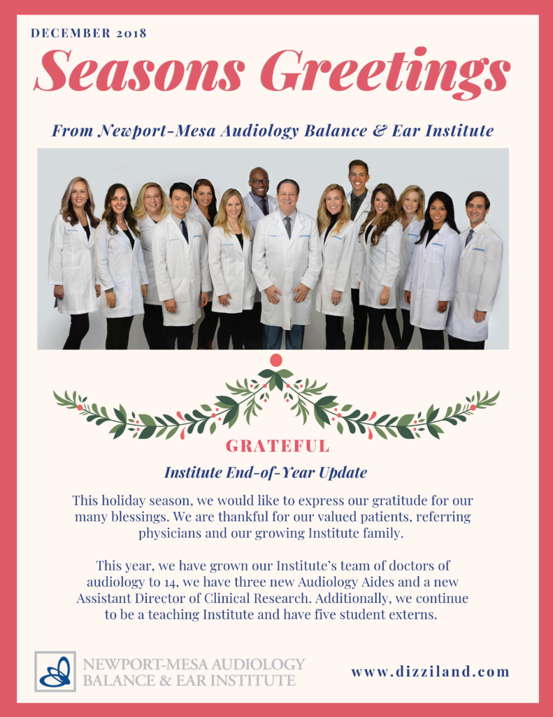 Holiday Newsletter 2018
