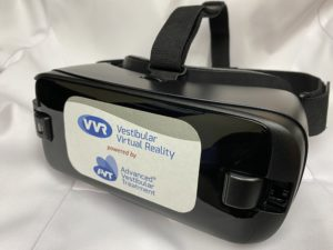 virtual reality goggles with advanced vestibular treatment branding